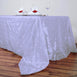 "90"" x 156"" Lavender Taffeta Pintuck Rectangular Tablecloth"