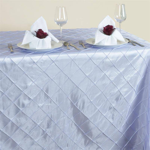 "Lavender 90x156"" Pintuck Tablecloths"