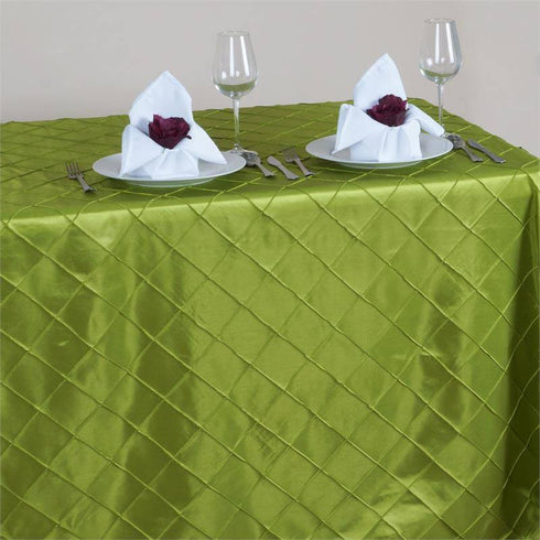 "Sage 90x156"" Pintuck Tablecloths"
