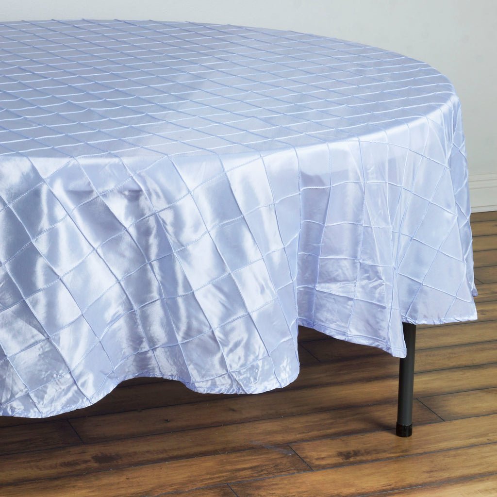"Lavender Pintuck Tablecloths 90"" Round"