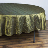 "Pintuck Tablecloths 90"" Round - Moss / Willow"