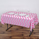 "54"" x 72"" Pink 10 Mil Thick Chevron Waterproof Tablecloth PVC Rectangle Disposable Tablecloth"