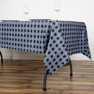 """White Red RECTANGLE 54x72/"""" Checkered Disposable Plastic TABLE COVER Tablecloth"""
