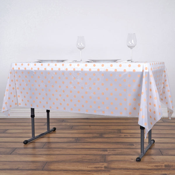54 Quot X72 Quot Peach Wholesale Disposable Waterproof Polka Dots