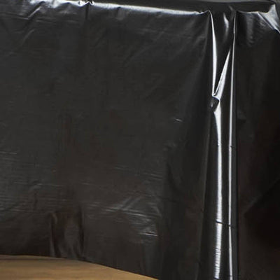"Spotless Elegance 54x72"" Disposable Plastic Table Cover - Black"