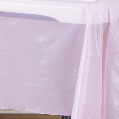 "Spotless Elegance 54x72"" Disposable Plastic Table Cover - Pink"