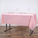 "54"" x 72"" 10 Mil Thick Waterproof Tablecloth PVC Rectangle Disposable Tablecloth - Rose Gold/Blush"