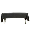 "54"" x 108"" Black 10 Mil Thick Waterproof Tablecloth PVC Rectangle Disposable Tablecloth"