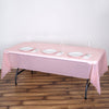 "54"" x 108"" 10 Mil Thick Waterproof Tablecloth PVC Rectangle Disposable Tablecloth - Rose Gold/Blush"