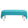 "54"" x 108"" Turquoise 10 Mil Thick Waterproof Tablecloth PVC Rectangle Disposable Tablecloth"