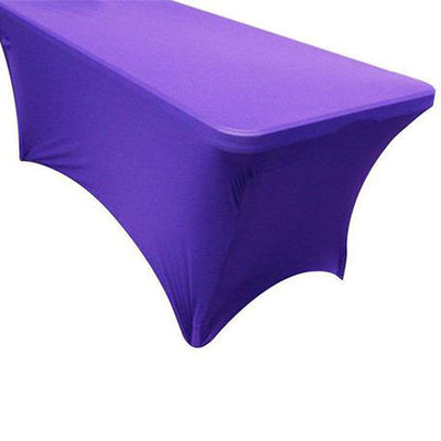 5 FT Rectangular Stretch Spandex Tablecloth - Purple