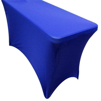 5 Ft Rectangular Spandex Table Cover - Royal Blue