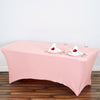 6 Ft Rectangular Spandex Table Cover - Rose Quartz