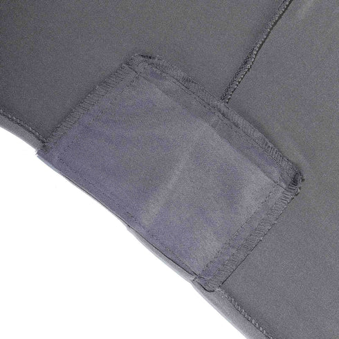 6 FT Charcoal Gray Rectangular Stretch Spandex Tablecloth