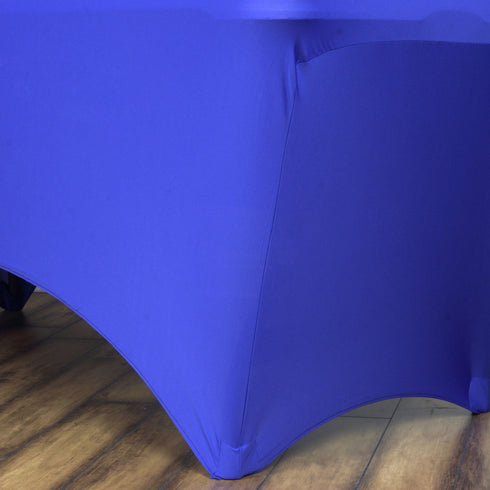 6 Ft Rectangular Spandex Table Cover - Royal Blue