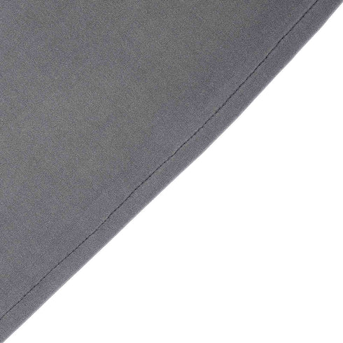 8 FT Charcoal Gray Rectangular Stretch Spandex Tablecloth