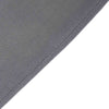 8FT Charcoal Gray Rectangular Stretch Spandex Tablecloth
