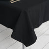 "54"" Black Commercial Grade 250 GSM Polyester Square Tablecloth"