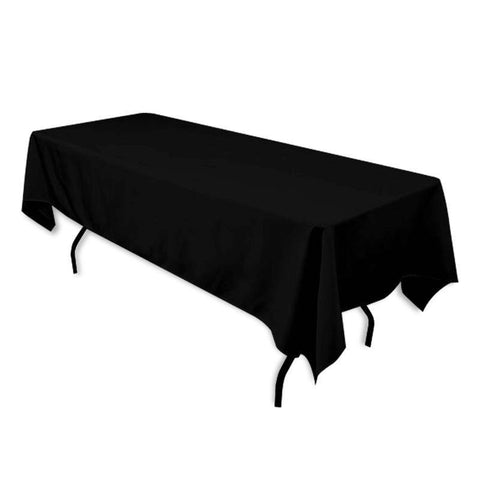 "Tuscany-Inspired *250gsm Tablecloth - 60x102"" Black"