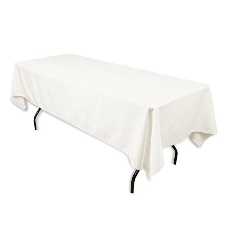 "Tuscany-Inspired *250gsm Tablecloth - 60x102"" Ivory"