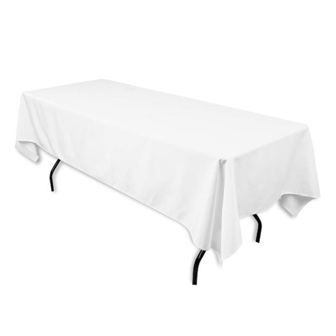"Tuscany-Inspired *250gsm Tablecloth - 60x102"" White"