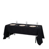 "60x126"" Black Rectangle Tuscany-Inspired 250gsm Polyester Tablecloth"