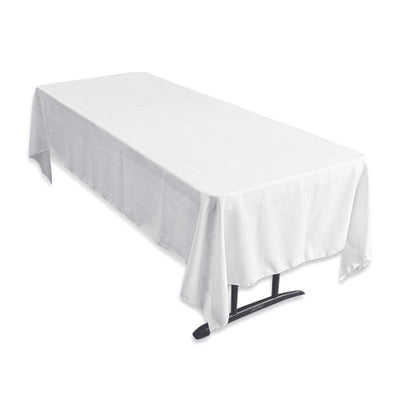 "Tuscany-Inspired *250gsm Tablecloth - 60x126"" White"