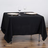 "70"" Black Square Tuscany-Inspired 250gsm Polyester Tableclotha70"" Black Commercial Grade 250 GSM Polyester Square Tablecloth"
