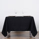 "70"" Black Commercial Grade 250 GSM Polyester Square Tablecloth"
