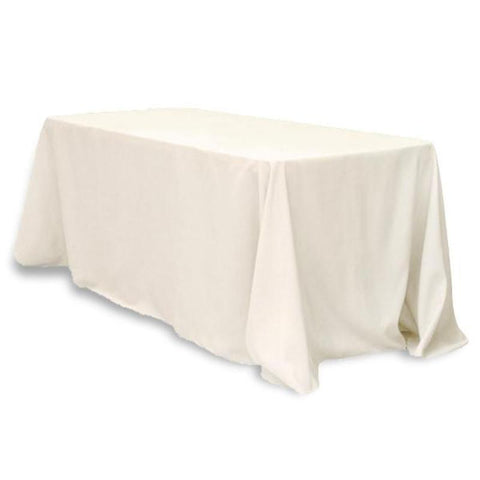 "Tuscany-Inspired *250gsm Tablecloth - 90x132"" Ivory"