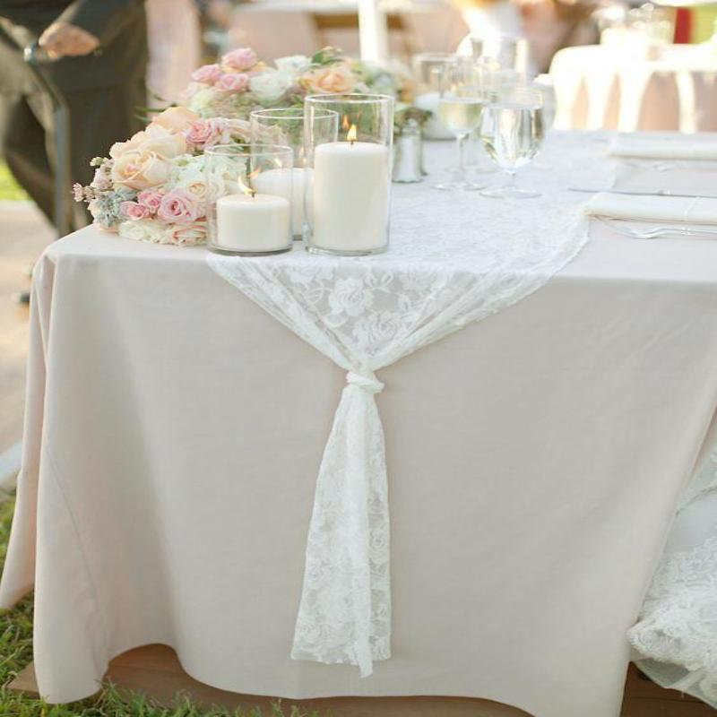 "Tuscany-Inspired *250gsm Tablecloth - 90x156"" Ivory"