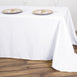 "90x156"" White Rectangle Tuscany-Inspired 250gsm Polyester Tablecloth"