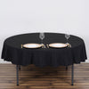 "70"" Black Commercial Grade 250 GSM Polyester Round Tablecloth"