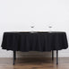 "90"" Black Round Tuscany-Inspired 250gsm Polyester Tablecloth"