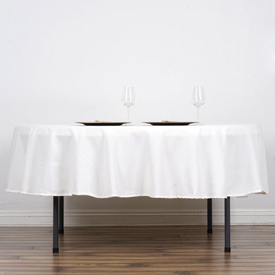 "90"" Ivory Round Tuscany-Inspired 250gsm Polyester Tablecloth"