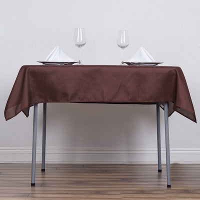 "54""x54"" Seamless Polyester Square Linen Tablecloth - Chocolate"