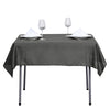 54inch Charcoal Grey Square Polyester Tablecloth
