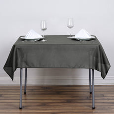 "54""x54"" Seamless Polyester Square Linen Tablecloth - Charcoal Grey"