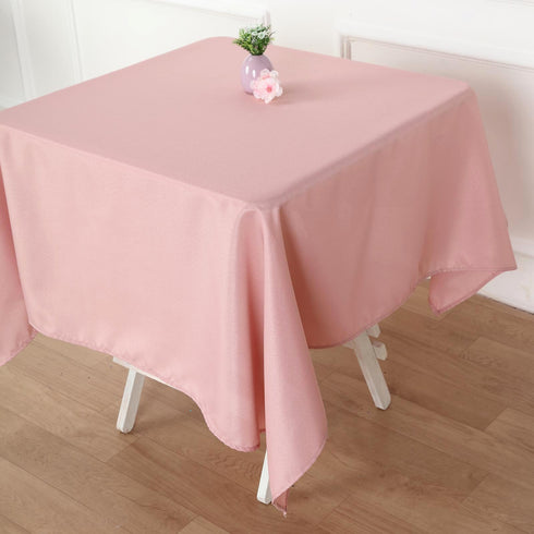 "54"" Dusty Rose Square Polyester Tablecloth"