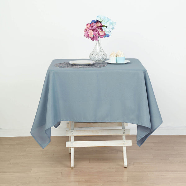"54"" Dusty Blue Square Polyester Tablecloth"