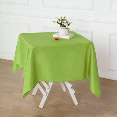"54x54"" Seamless Polyester Square Linen Tablecloth - Apple Green"
