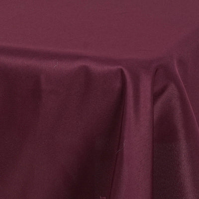 "54x54"" Seamless Polyester Square Linen Tablecloth - Burgundy"