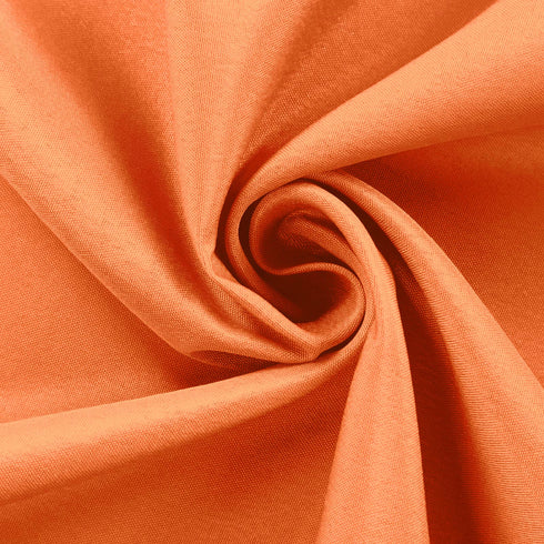 "54"" Orange Square Polyester Table Overlay"