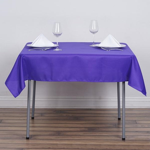 "54x54"" Seamless Polyester Square Linen Tablecloth - Purple"