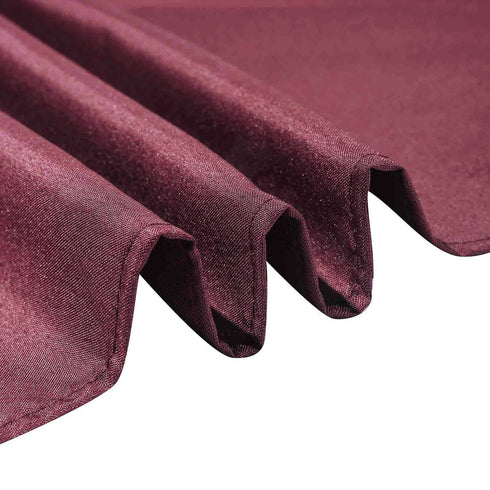 70 inch Burgundy Premium Square Polyester Tablecloth