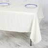 "70"" Ivory Premium Square Polyester Tablecloth"