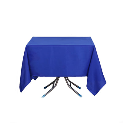 "70"" Royal Blue Premium Square Polyester Tablecloth"