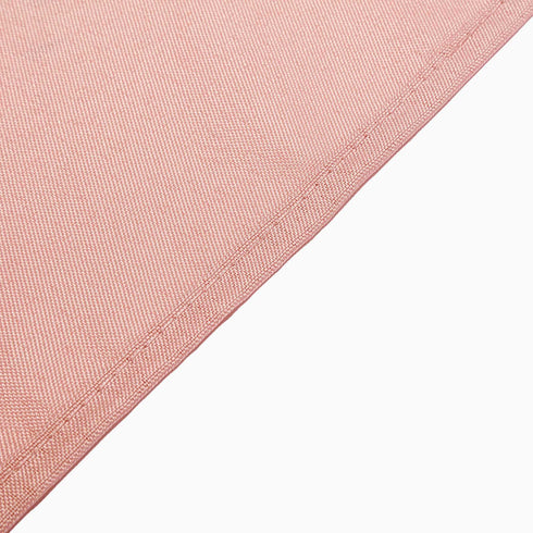 "90"" Dusty Rose Premium Square Polyester Tablecloth"