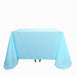 90 Inch Blue Square Polyester Tablecloth