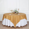 "90"" Gold Premium Square Polyester Table Overlay"